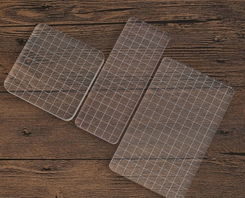 clear acrylic stamp blocks with grid lines