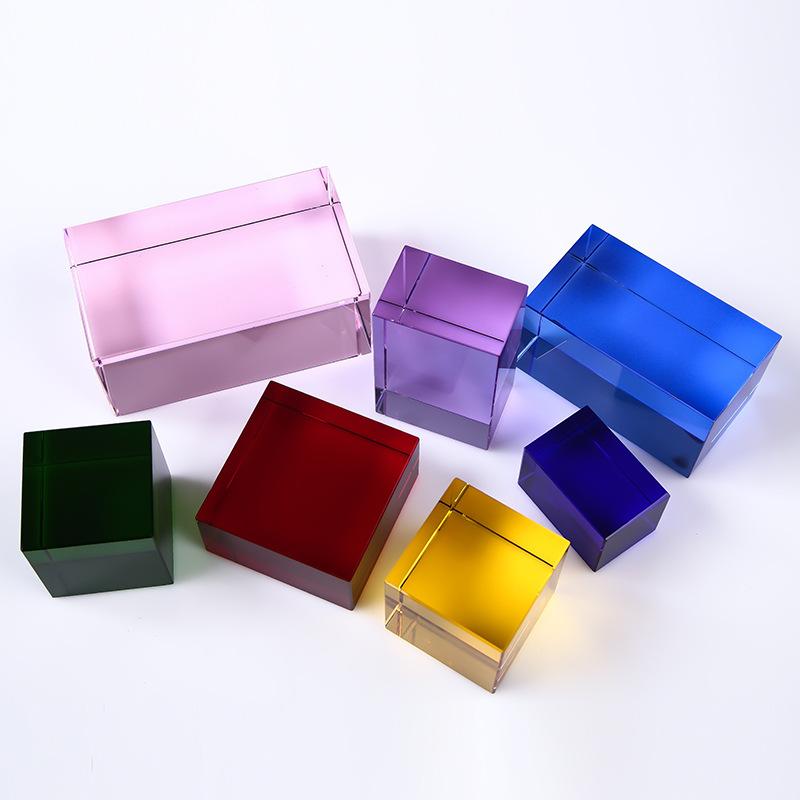 colored acrylic blocks