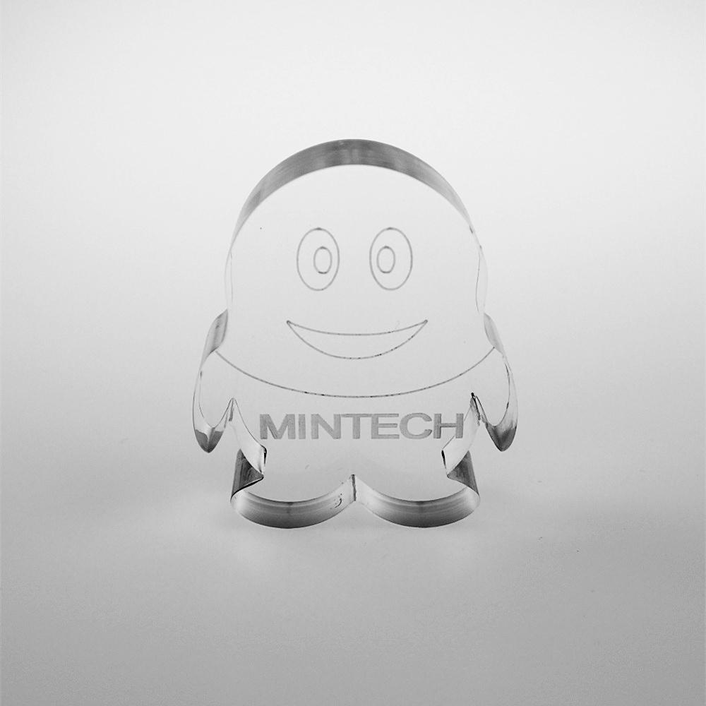 custom acrylic block with logo