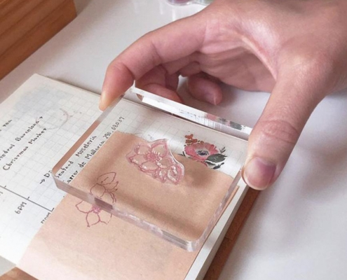diy stamping tool clear acrylic stamp block