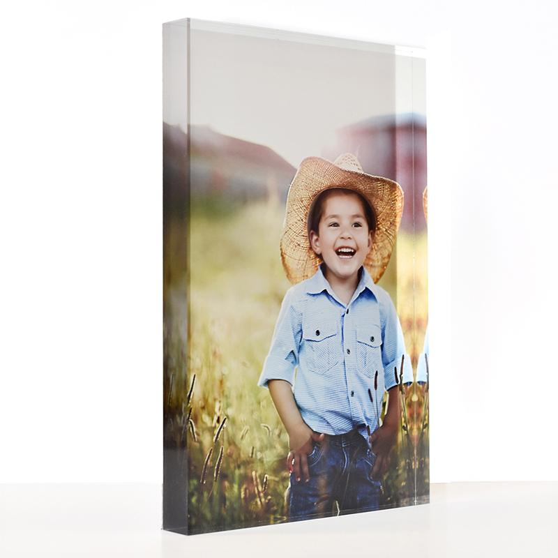 personalised acrylic photo block
