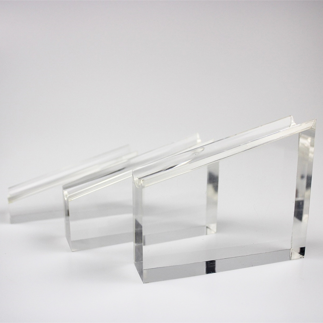 perspex blocks with curved edges