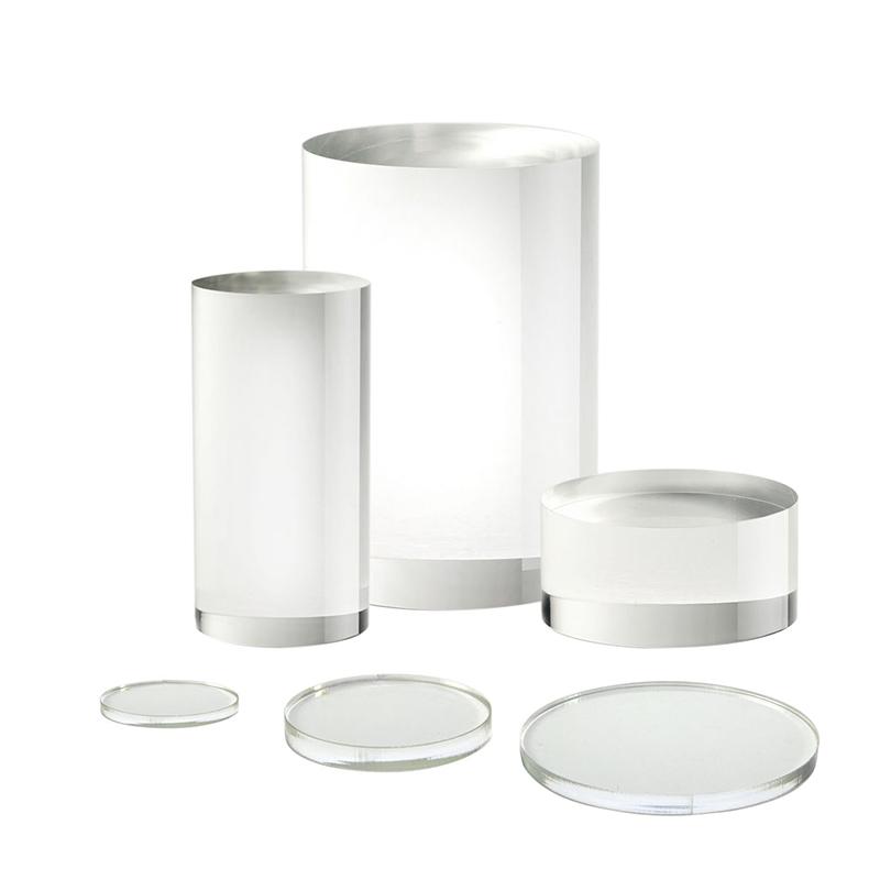 solid acrylic tube riser blocks