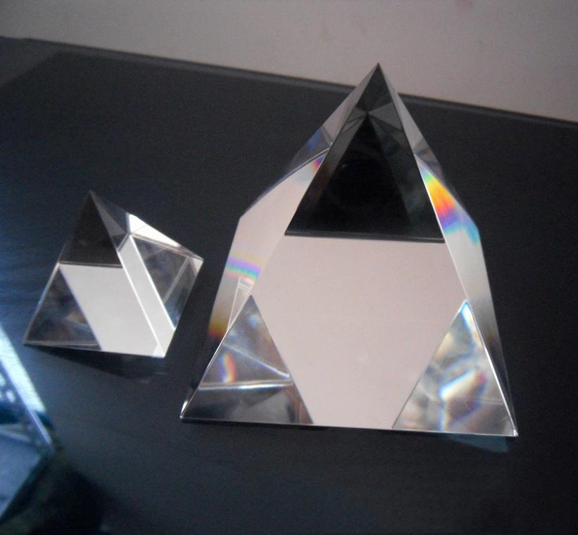 triangle acrylic blocks