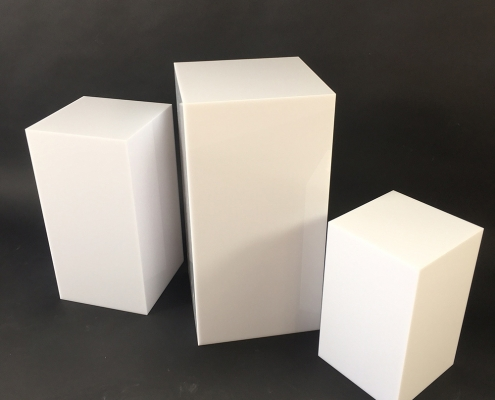 white acrylic display cubes wholesale manufacturer
