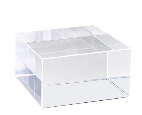 Clear Acrylic Block Display Cube