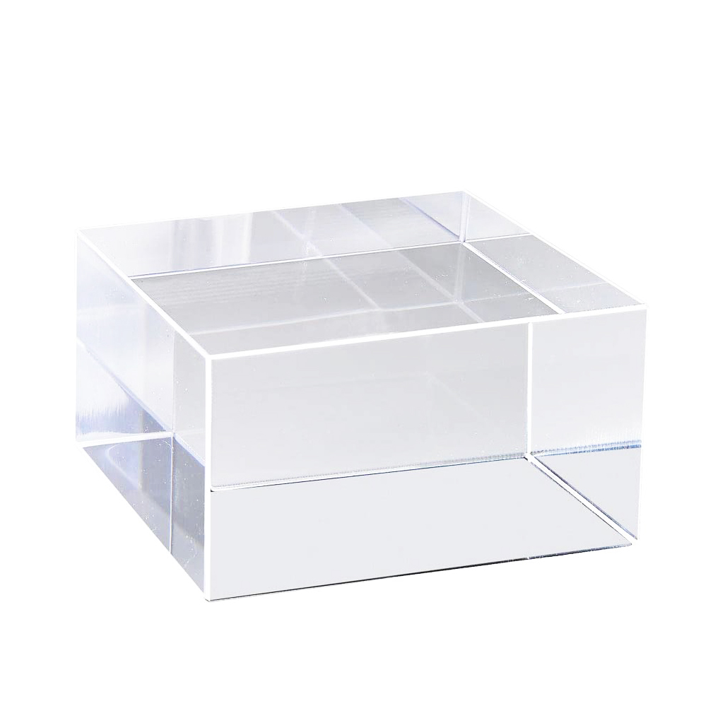 Clear Acrylic Block Display Cube