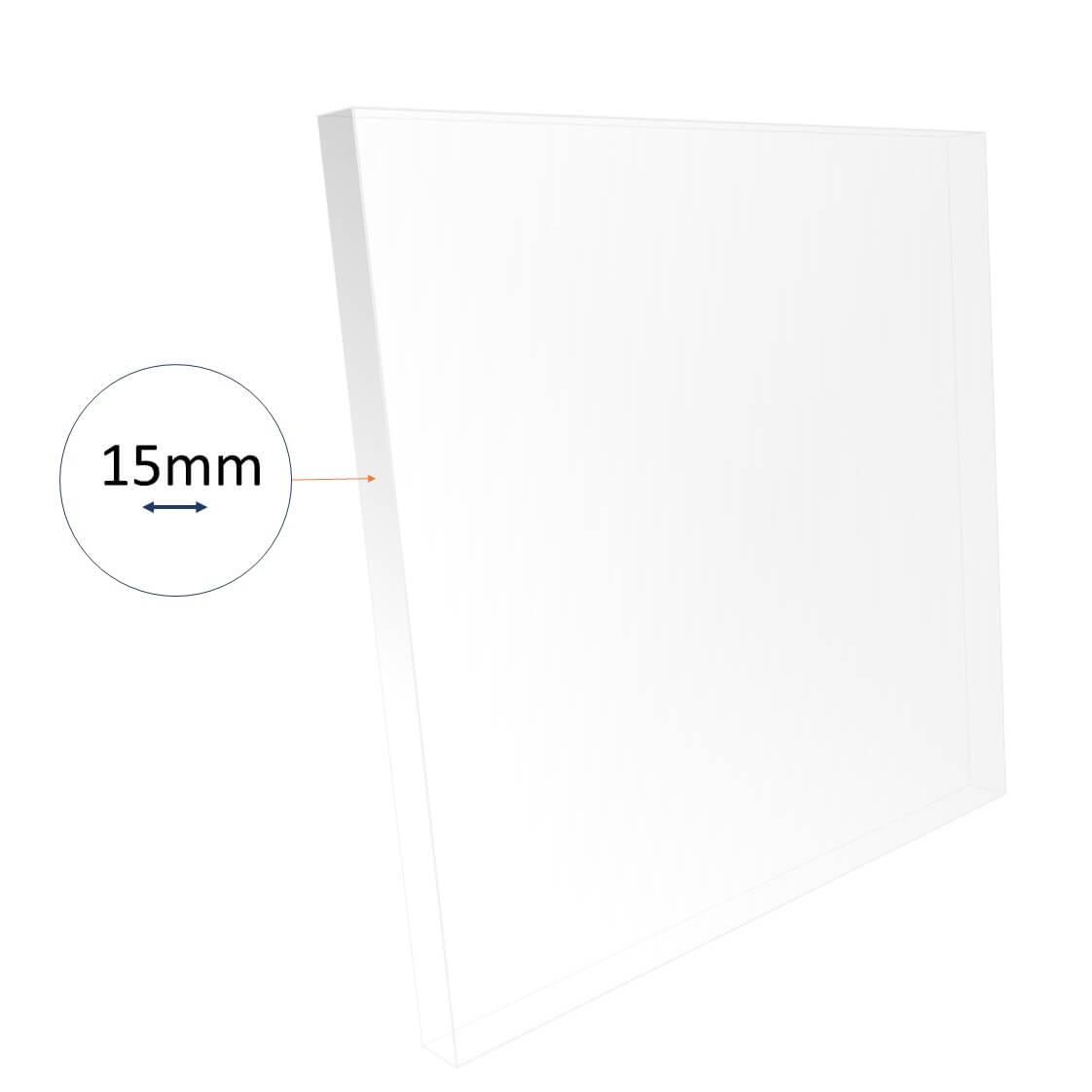 15mm acrylic sheet cut to size