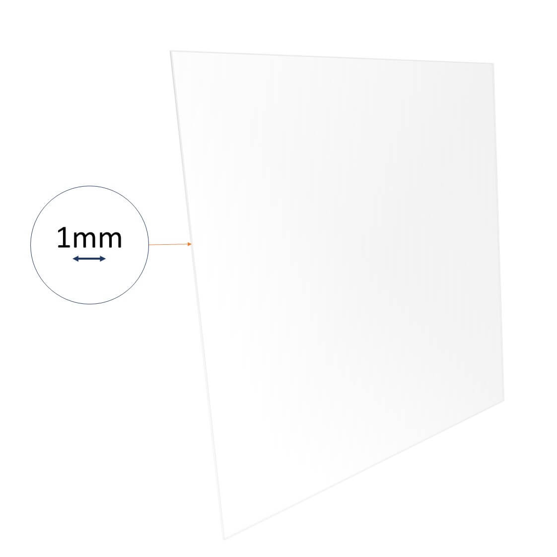 1mm acrylic sheet cut to size