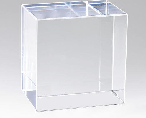Clear Acrylic Block Display Cube-1