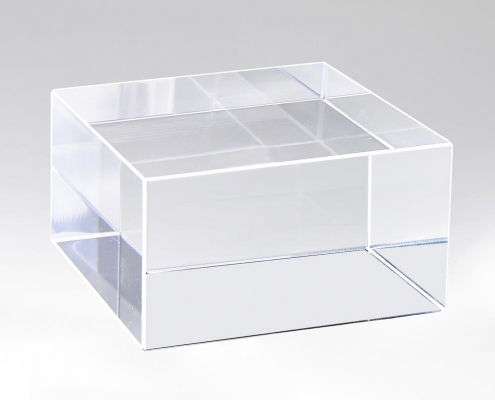 Clear Acrylic Block Display Cube-2