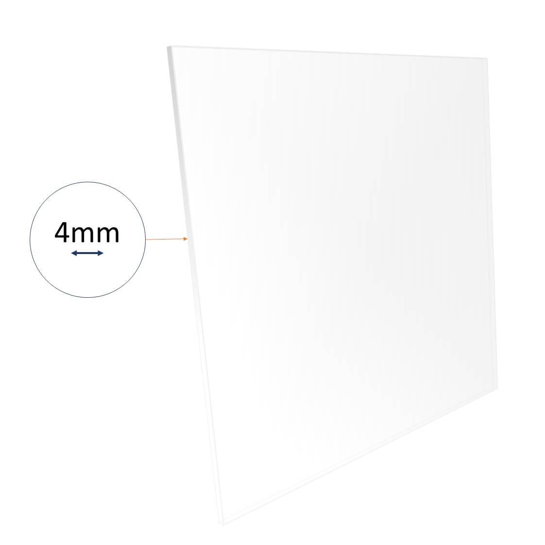 4mm acrylic sheet cut to size