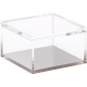 Acrylic Small Cube Boxes with Lid - 5x5x3'' -1