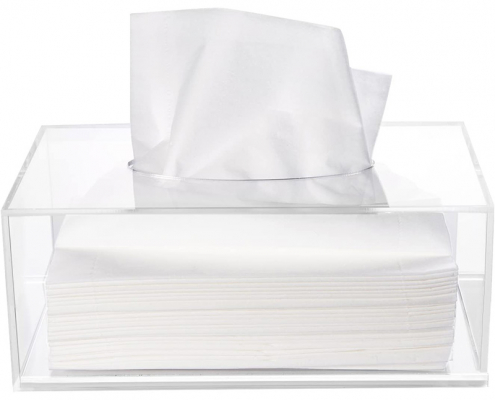 Clear Acrylic Rectangle Tissue Box - 10.2x5.5x4.3 in-1