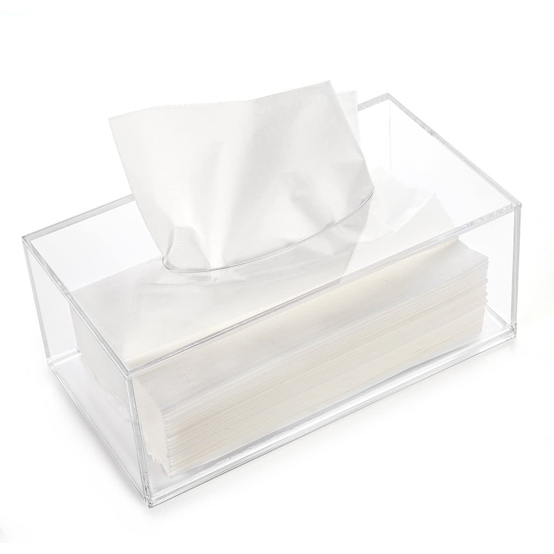 Clear Acrylic Rectangle Tissue Box - 10.2x5.5x4.3 in