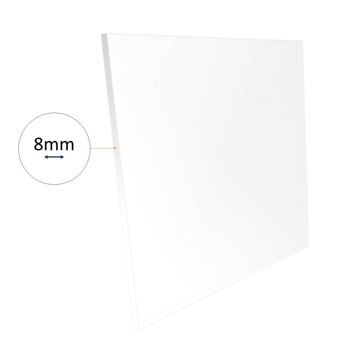 8mm acrylic sheet cut to size