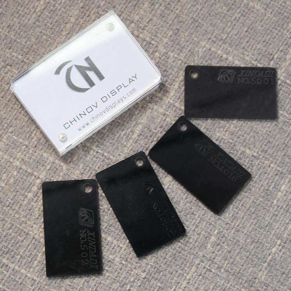 black acrylic sheet cut to size