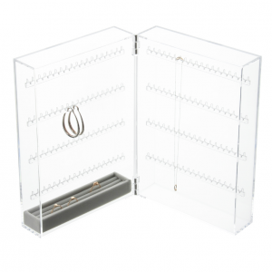 Acrylic Display Case For Earrings & Necklaces