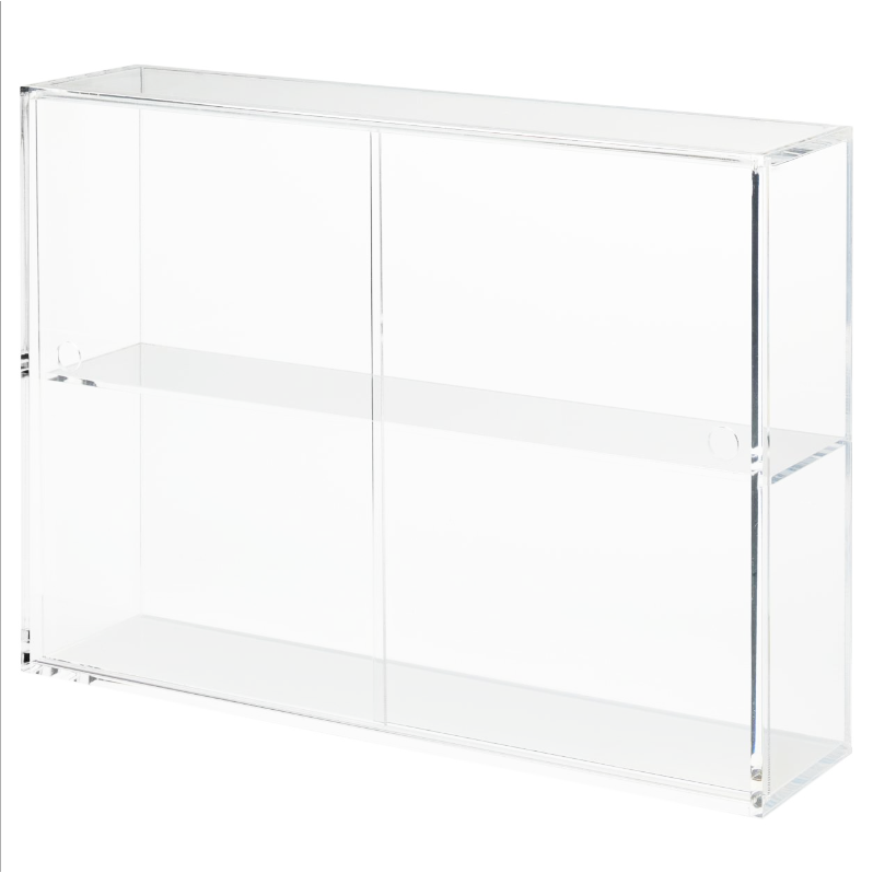 Acrylic Display Case With Sliding Door