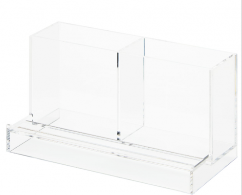 Acrylic Tabletop Organizer Stand For Pen & Smartphone-1