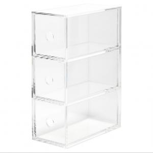 Acrylic Storage Box With 3 Drawers