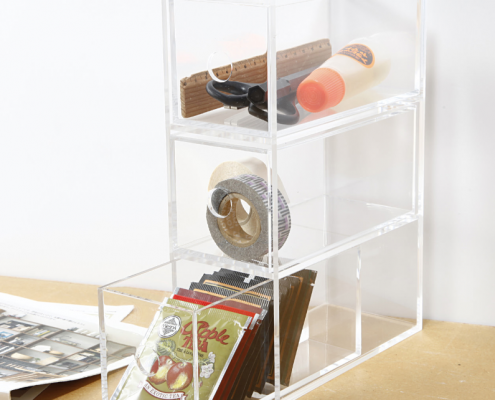 Acrylic Storage Box With 3 Drawers-2