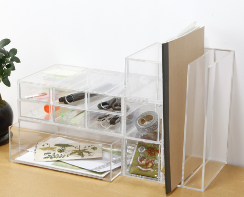Acrylic Storage Box With 3 Drawers-3