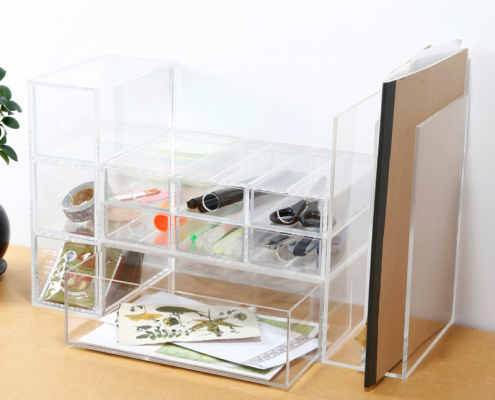 Acrylic Storage Box With 3 Drawers-4