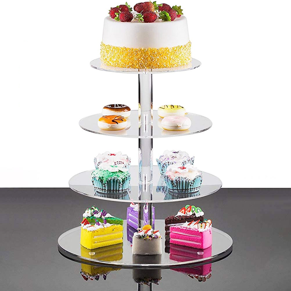 Round Acrylic Cake Tower Display Stands