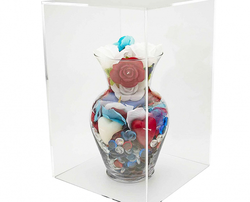 Acrylic Rectangual Display Case For Art Sculpture-2