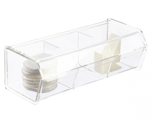 3 Section Acrylic Box With Hinged Lid-2