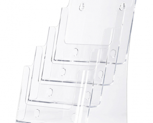 Acrylic Brochure Holder Stand For Wall Mount Or Countertop
