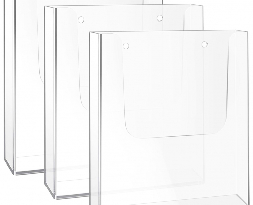 Clear Acrylic Flyer & Literature Holder For Wall