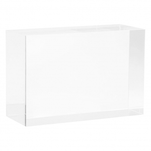Clear Rectangule Lucite Solid Display Block