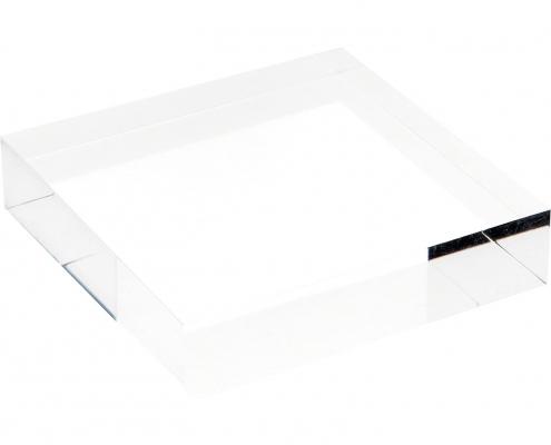 Clear Square Plexiglass Polished Display Block