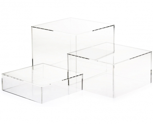 Acrylic Cube Display Nesting Risers