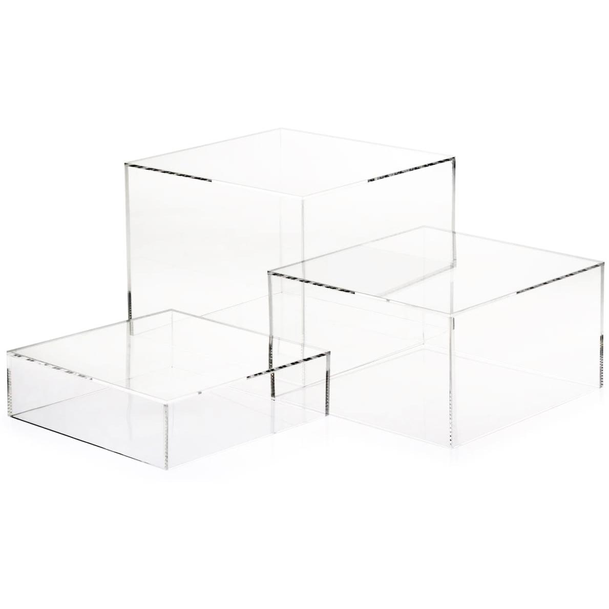 Acrylic Cube Display Nesting Risers