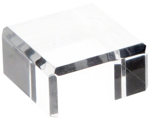 Clear Polished Acrylic Square Display Base-4