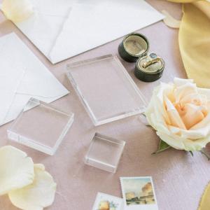 Beautiful Acrylic Transparent Blocks For Wedding