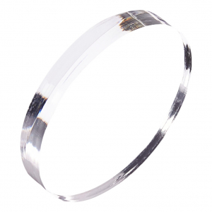 Round Shaped Clear Acrylic Blocks