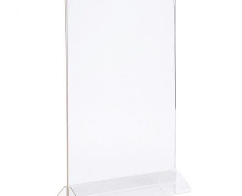 """Clear PMMA Table Menu Stand - 5"""" × 7""""-1"""