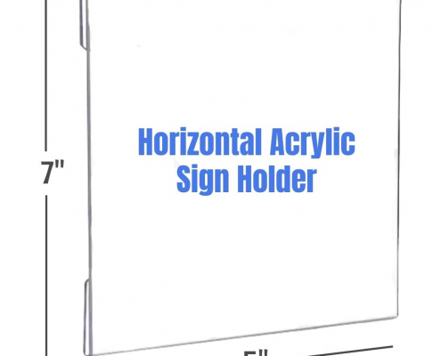 Wall Mount Horizontal Acrylic Sign Holder with 3M Tape Adhesive-1
