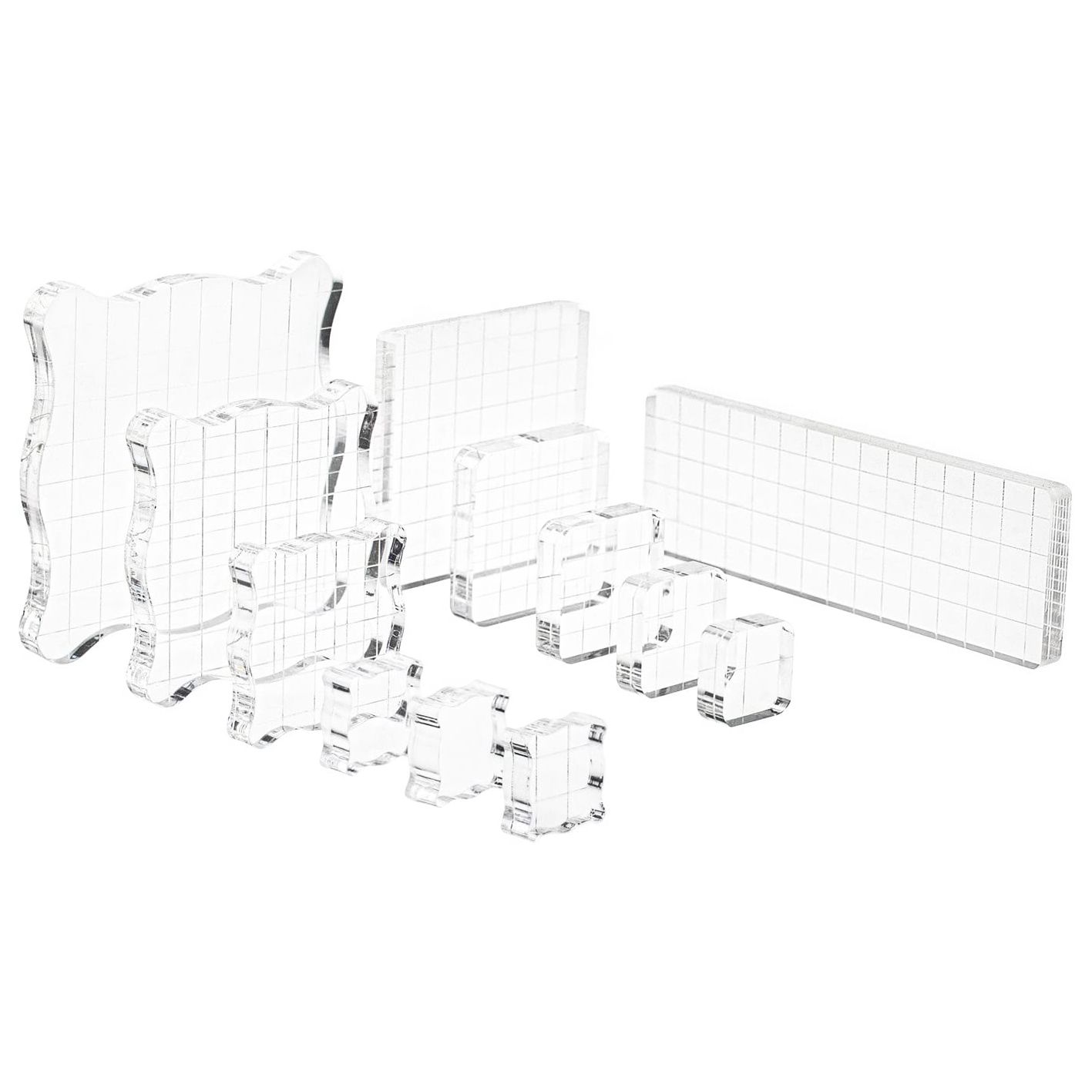 Acrylic Clear Stamping Block For Arts & Scrapbooking