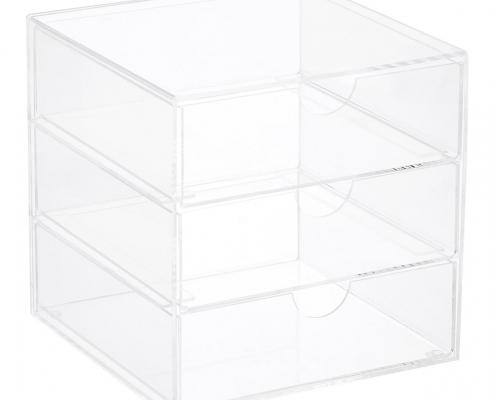 Premium Acrylic Office Supplies Organizer Case With Drawer-1