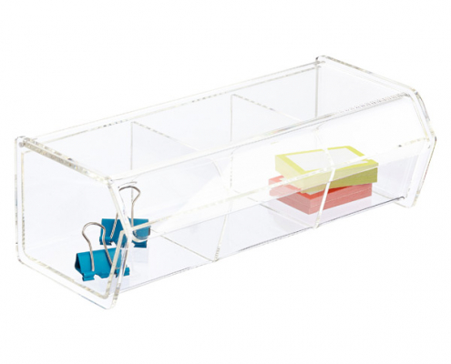 3 Section Acrylic Box With Hinged Lid-1