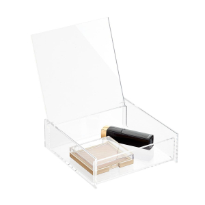 Small Clear PMMA Box With Lid For Cosmetic