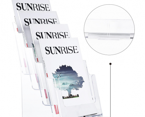 Acrylic Brochure Holder Stand For Wall Mount Or Countertop-2