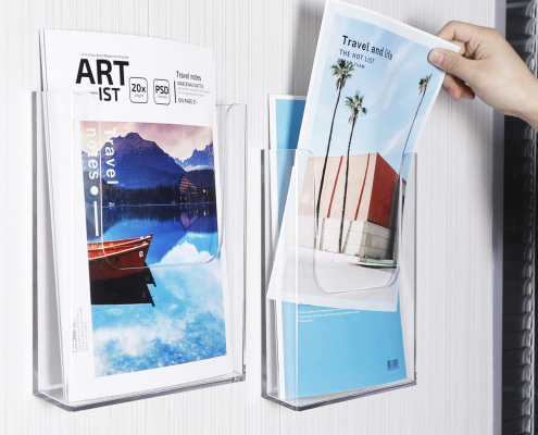 Clear Acrylic Flyer & Literature Holder For Wall-1