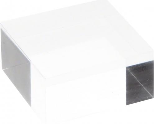 Clear Square Plexiglass Polished Display Block-3