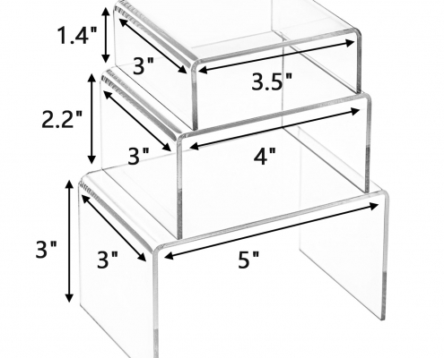 Clear Acrylic Display Risers For Jewelry & Perfume-size